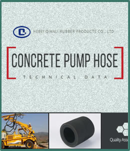 This is the cover photo of concrete pump hose PDF, which mainly shows technical data for customers.